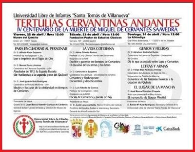 Tertulias Cervantinas Andantes, abril 2016