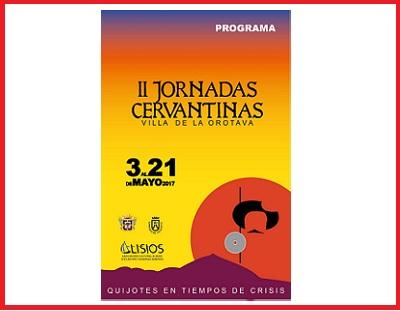 II Tertulias Cervantinas - Villa de La Orotava, mayo 2017